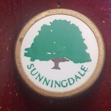 Sunningdale Golf Club Ball Marker.  (Vintage, brass)