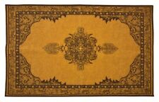 Persian Medallion Mat Area Rug Slip Skid Resistant Rubber Backing 2' x 3' 2 by 3