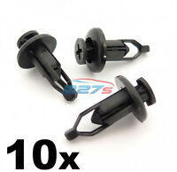 10x 9mm Front & Rear Plastic Bumper Clips- Fits Toyota Lexus Same as 90467-09143