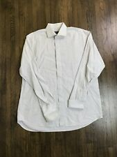 BARBERINI Made in Italy 100% Cotton Button Front Men's Shirt L/S sz 17 / 43 Rare