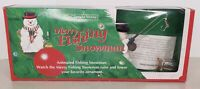 Vintage 1992 Merry Fishing Snowman - The Enchanted  Workshop