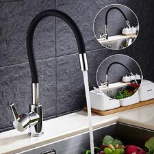 """Küchen Spültisch """"C"""" Typ Armatur Küchenarmatur Wasserhahn Schwarz brass 360°"""