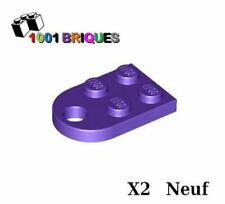 Lego 3176 x2 Plate, Modified 3 x 2 with Hole Dark Purple