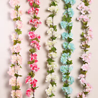 Artificial Cherry Blossom Fake Flower Hanging Garland Home Party Wedding Decor W