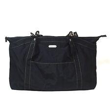 BAGGALLINI Black Hampton Bagg Crinkle Nylon Tote Shoulder Bag Organizer Handbag