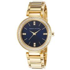 Kenneth Jay Lane 2610 Women's 2600 Series Gold-Tone Stainless Steel Navy Blue