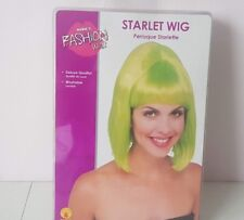 Ladies Green Hair Starlet Fancy Dress Wig Bob Style