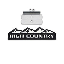 Black&White HIGH COUNTRY Front Grille Emblem 4X4 Metal Grill Badge For Silverado