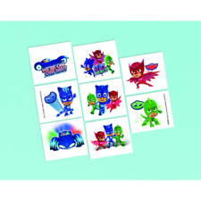 8 x PJ Masks Temporary Tattoos Favours Party Supplies Loot Bag Temp