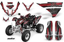 ATV Graphics Kit Quad Decal Wrap For Polaris Predator 90 2003-2007 NUKE RED