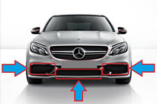 New Genuine Mercedes Benz C Class W205 C63 AMG Set Of Front Bumper Lower Grills