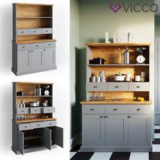 VICCO Küchenschrank CAMBRIDGE Vitrine Buffet Küchenregal Landhaus grau Eiche