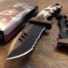 "8"" USMC MARINES TACTICAL SPRING ASSISTED FOLDING KNIFE Blade Pocket Open"