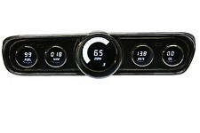 Ford Mustang Digital Dash Instrument Cluster Gauges for 1965 - 1966 White LEDs