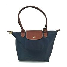 Authentic LONGCHAMP PARIS Le Pliage Small Nylon Tote Bag Blue Made In France