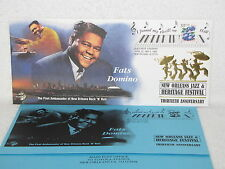 Fats Domino JAZZ HERITAGE FESTIVAL POSTAL ENVELOPE Cachet 1999 New Orleans #657