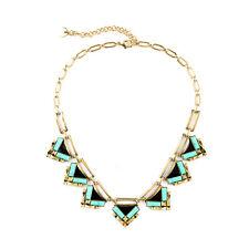 NEW * Anthropologie Jacobi Drop Mint Green Black Beaded Gold Trim Necklace