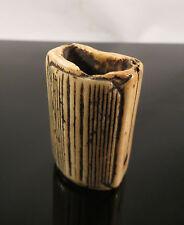 Antique Antler Japanese Netsuke of Sen Coin Japan