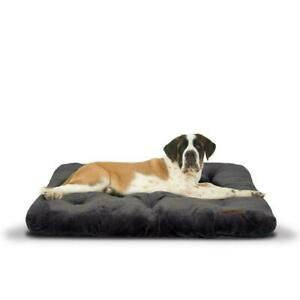 """Vibrant Life Plush Tufted Mat Pet Bed for Extra Large Dogs, Gray, 38"""" x 48"""""""