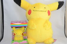 Pokemon Center a set of METAMON DITTO PIKACHU Big and Small Plush 2010