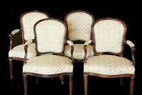 Ensemble de 4 fauteuils en cerisier, Transition / Set of 4 cherry armchairs 18th