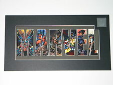 MARVEL COMICS WOLVERINE LASER CEL MATTED POSTER LIMITED EDITION - NOTE CONDITION