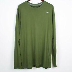 NIKE Dri-Fit Mens Legend Long Sleeve Shirt 2XLT TALL