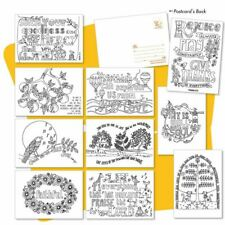 10 Images of Joy Colouring postcards