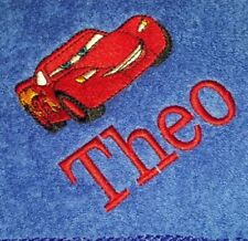 personalised embroidered bath towel CARS LIGHTNING MCQUEEN - add a name for FREE
