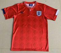 1989 England Away Retro Soccer Jersey