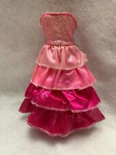 barbie doll sparkle light princess Pink Ruffle Dress Replacement