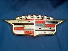 1956 56 Cadillac Hood Crest Emblem Ornament