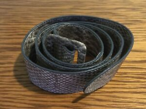 Grey/White Snakeskin Design Belt
