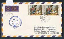 15694) LH FF (Barcelona)/Madrid España-hamburgo 1.4.72, carta a partir de Chipre