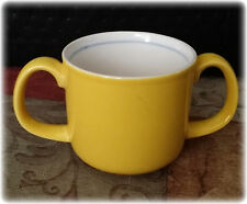 Mikasa Teddy #CC004 Two Handled Childs Cup in Yellow & White