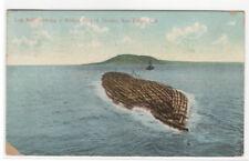 Log Raft Tug Logging San Diego California 1916 postcard