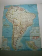 NATIONAL GEOGRAPHIC MAP February 1960 South America Plate 25