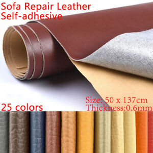 137x50cm Pu Leather Adhesive Sticky Rubber Patch Sofa Textiles Solid Color