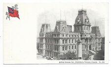 MONTREAL, QUEBEC City Hall Publisher Arthur Strauss Inc. Heraldic Postcard