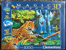 1000 Piece Magic 3D Puzzle  - Jaguar Jungle l- New Clementoni Jigsaw Puzzle