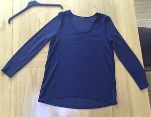 Lovely Ann Taylor Navy Relaxed Fit Long-Sleeved Tunic Top. Small(-Medium!) BNwoT