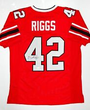 Gerald Riggs Autographed Red Pro Style Jersey- JSA W Authenticated