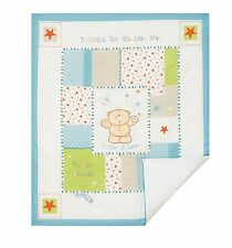 Forever Friends  Baby Nursery Blue Stars Boys Cot Bed Quilt
