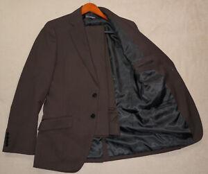 36R H&M 2-Piece Suit - Men 36 Brown Pinstripe 2Btn 33x32