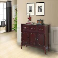 Pilaster Designs - Wood Console Sideboard Table with Drawers & Storage Cherry...
