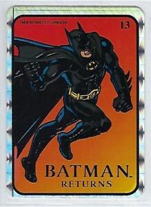 1992 BATMAN RETURNS Vending Machine Prism Sticker DC Comics #13 .