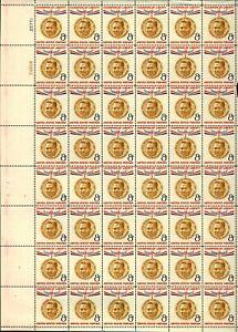 US #1096 1957 8c Champion of Liberty Ramon Magsaysay Sheets (6) MNH