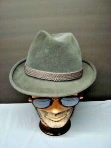 Vintage Gray Mallory Felt Hat. 7 1/4