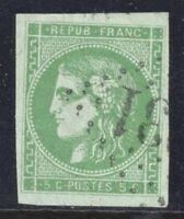 n°42 Bordeaux Cérès 5c Vert oblitéré GC 1870 1er choix timbre classique