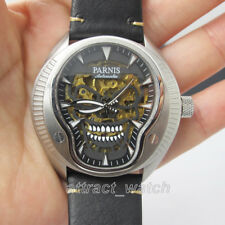 43mm Parnis Miyota Automatic Men Watch Skull Dial Luminous Mark 316L Stainless
